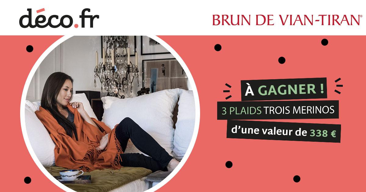 Remportez votre plaid Brun de Vian Tiran AADA388F-94D4-A9FE-BAE89B5F21D965DF