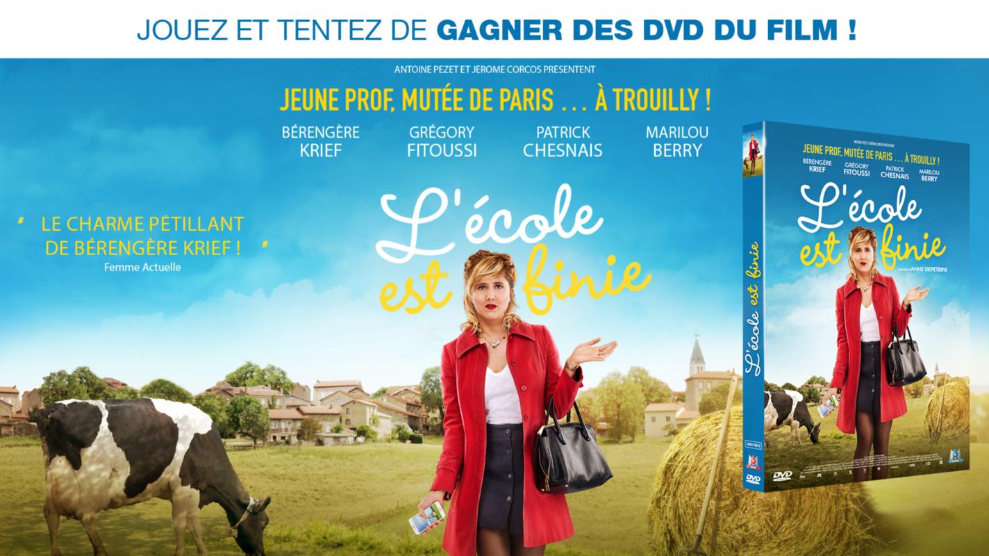 """15 DVD du film """"L'école est finie B6551397-9992-24E4-2DEB2F95D18726F4"""
