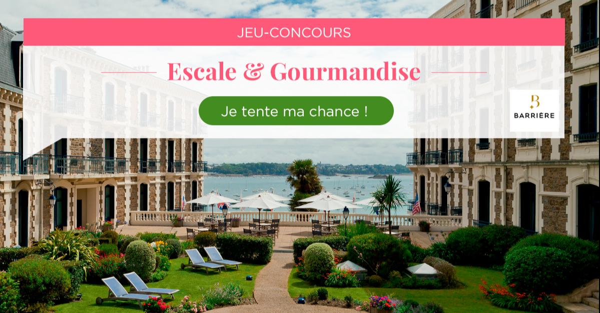 Tentez de remporter un week-end Escale & Gourmandise pour 2 personnes !